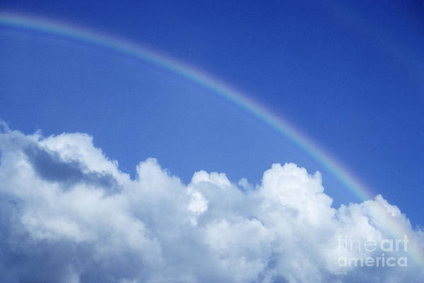 Above Art Print featuring the photograph Arching Rainbow by Carl Shaneff - Printscapes