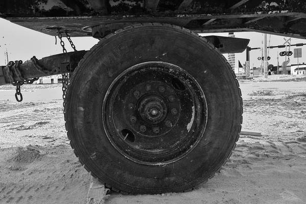 Black And White Art Print featuring the photograph Black Wheel by Rob Hans