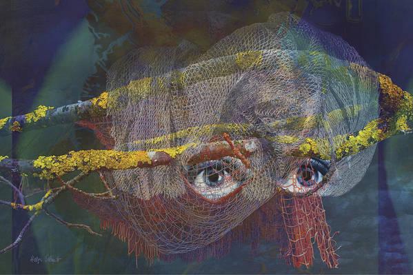 Fantasy Art Print featuring the digital art Blowfish by Helga Schmitt