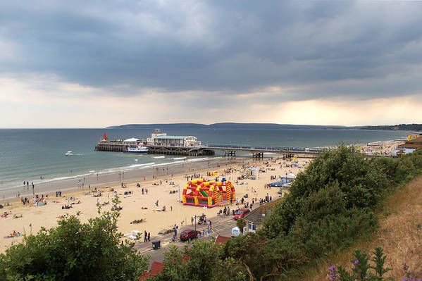 Bournemouth Art Print featuring the photograph Bournemouth Pier And Beach by Chris Day