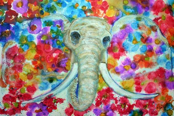 Multicolors Art Print featuring the painting Breaking Free by Alma Yamazaki