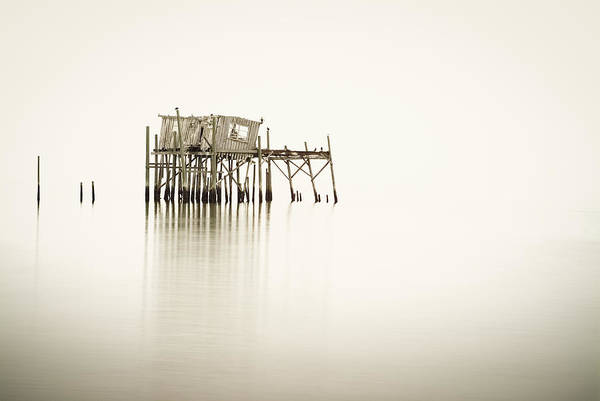 Old Art Print featuring the photograph Cedar Key Structure by Patrick M Lynch