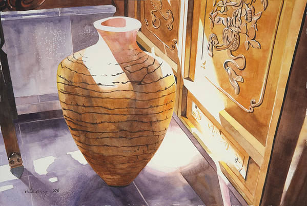 Still Life Art Print featuring the painting Celestial Hall Pottery II by Melody Cleary