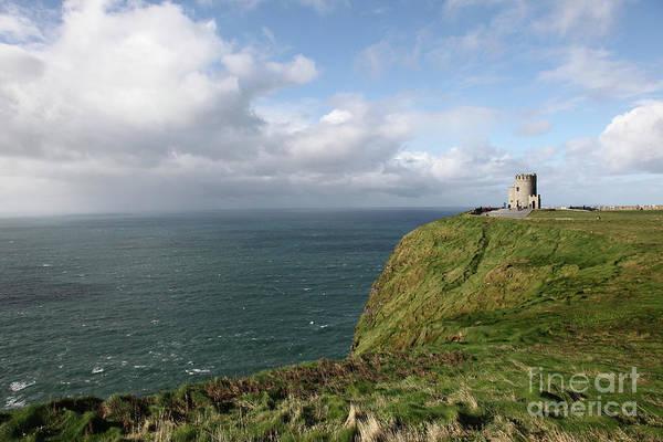Ireland Island Green Cliffsofmoher Cliffs Of Moher Art Print featuring the photograph Cliffs Of Moher by Daniel Klein