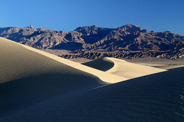 Death Valley Art Print featuring the photograph Death Valley Sand Dunes by Pierre Leclerc Photography