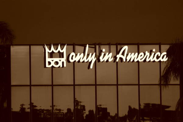 Sepia Art Print featuring the photograph Don King Only In America by Rob Hans