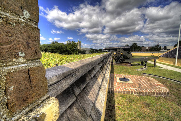 Fort Art Print featuring the photograph Fort Moultrie Cannon by Dustin K Ryan