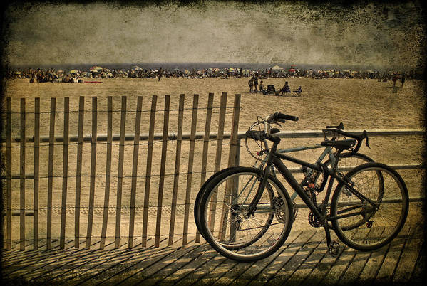 Fence Art Print featuring the photograph Gone Swimming by Evelina Kremsdorf