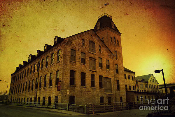 Historic Art Print featuring the photograph Historic Fox River Mills by Joel Witmeyer
