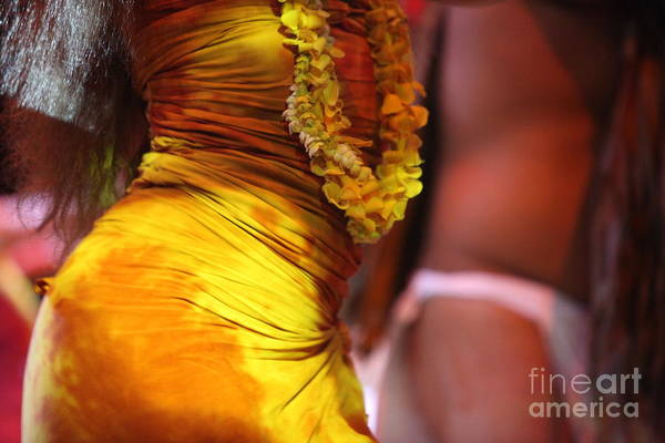 Dance Art Print featuring the photograph Hula Dancers by Nadine Rippelmeyer