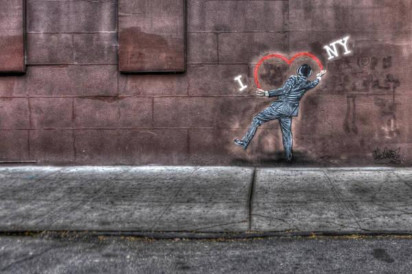 W York Art Print featuring the photograph I Heart Ny Street Art 4 by Randy Aveille