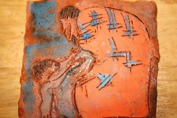 Jesus Art Print featuring the ceramic art Kaweeke - Tile by Gloria Ssali