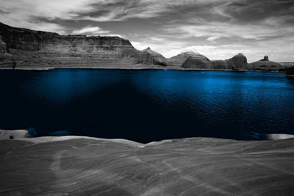 Photography Art Print featuring the photograph Liquid Blue by Tom Fant