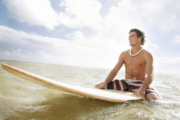 Active Art Print featuring the photograph Male Surfer by Brandon Tabiolo - Printscapes