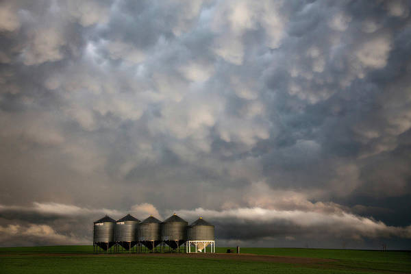 Storm Art Print featuring the photograph Mammatus Storm Clouds by Mark Duffy