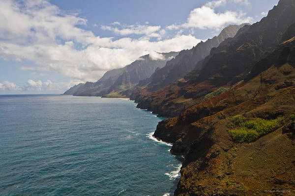 Na Pali Art Print featuring the photograph Na Pali Coastline by Shawn Young