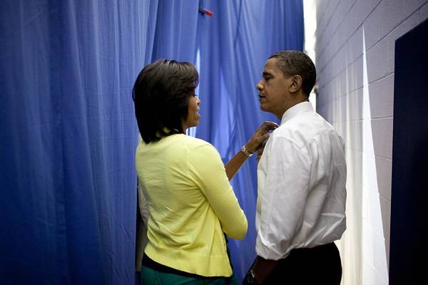 History Print featuring the photograph President Barack Obama And First Lady by Everett