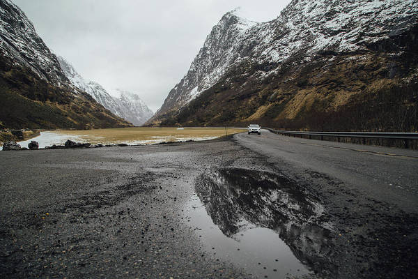 Road Trip Art Print featuring the photograph Road Of Norway by Aldona Pivoriene
