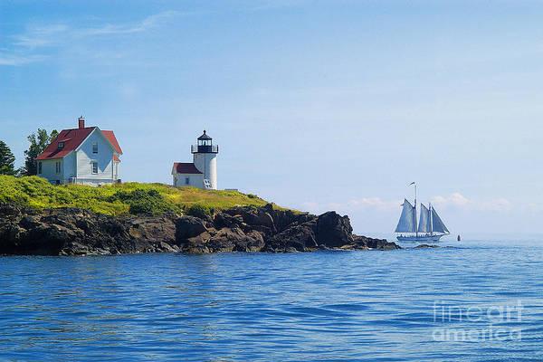 Sailing Art Print featuring the photograph Sails Off Curtis Island Light by Neil Doren
