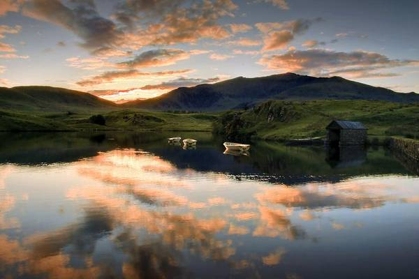 Wales Art Print featuring the photograph Snowdon Sunrise by Richard Outram