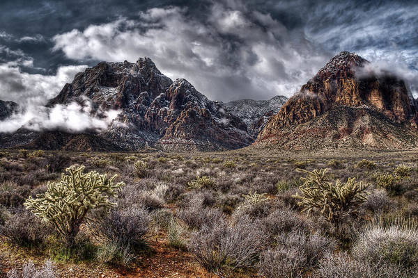Red Rock Art Print featuring the photograph Stormy Day At Red Rock by Joan McDaniel