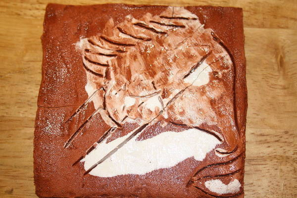 Jesus Art Print featuring the ceramic art Stream - Tile by Gloria Ssali