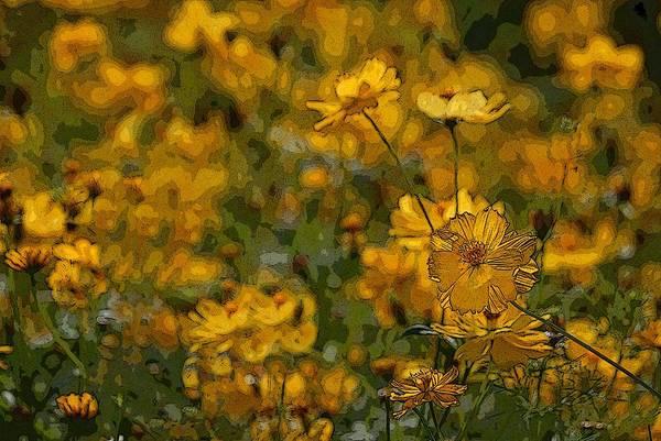 Yellow Art Print featuring the photograph Summer Flowers by Ed Zirkle
