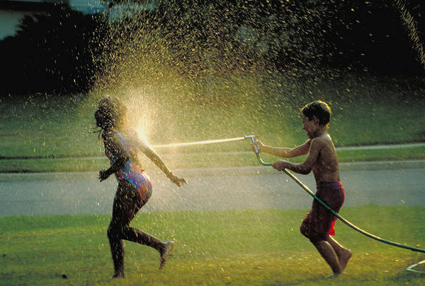 Hose Art Print featuring the photograph Summer Fun by Carl Purcell