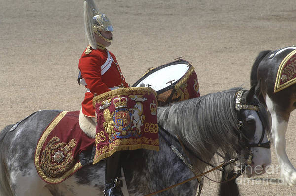 Cap Print featuring the photograph The Kettledrums Of Household Cavalry by Andrew Chittock