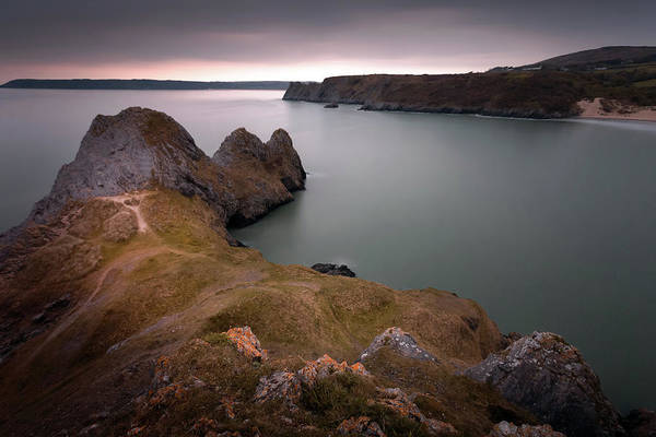 Three Cliffs Bay Art Print featuring the photograph Three Cliffs Bay Gower by Leighton Collins