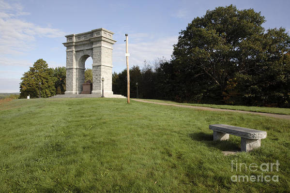 Granite Art Print featuring the photograph Titus Arch Replica - Northfield Nh Usa by Erin Paul Donovan