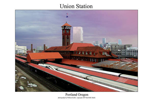 Portland Photographs Art Print featuring the photograph Union Station by William Jones