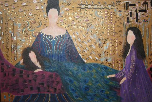 Figures Art Print featuring the painting Vanity by Sheryl Sutherland