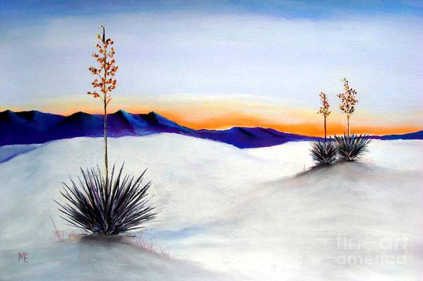 White Sands Art Print featuring the painting White Sands by Melinda Etzold