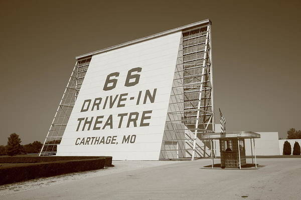 66 Art Print featuring the photograph Route 66 - Drive-in Theatre by Frank Romeo