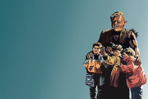 The Goonies Art Print featuring the digital art 112. Never Say Die by Tam Hazlewood