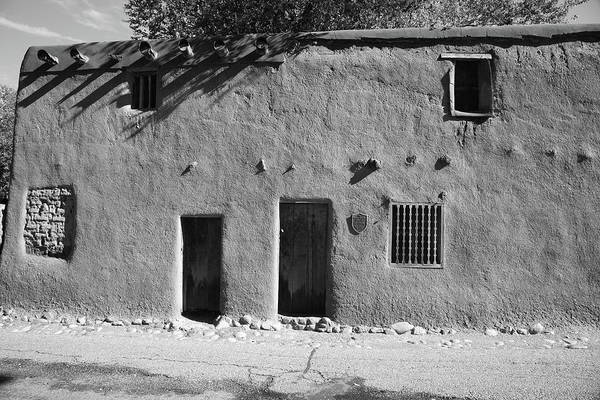 Adobe Art Print featuring the photograph Santa Fe - Adobe Building by Frank Romeo
