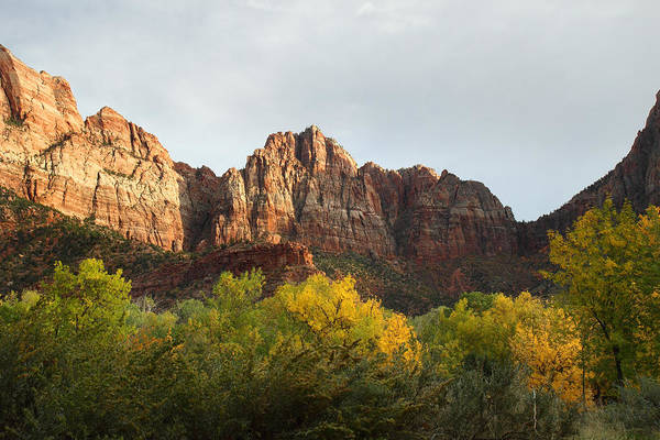 Zion Art Print featuring the photograph Zion National Park In Autumn by Pierre Leclerc Photography