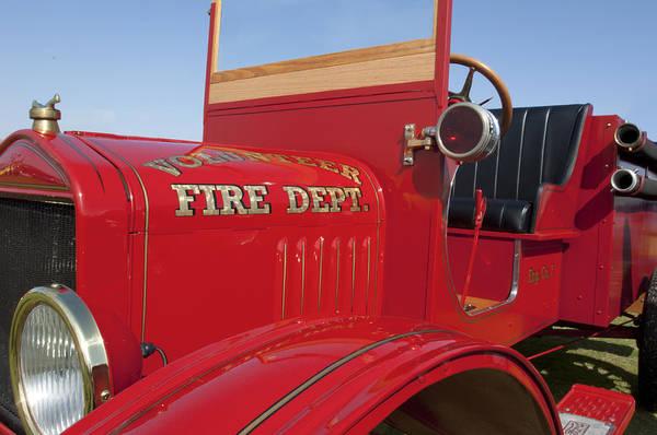 1919 Ford Model T Art Print featuring the photograph 1919 Volunteer Fire Truck by Jill Reger