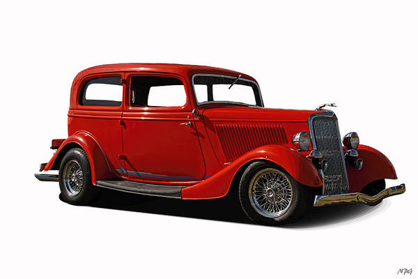 1934 Art Print featuring the photograph 1934 Ford 2 Door Sedan by Nick Gray