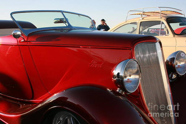 Ford Art Print featuring the photograph 1934 Red Ford by Camm Kirk