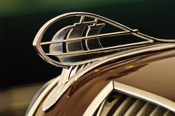 1936 Plymouth Sedan Art Print featuring the photograph 1936 Plymouth Sedan Hood Ornament by Jill Reger