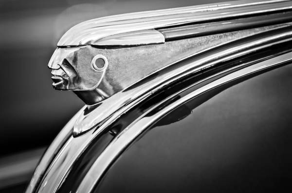 1948 Pontiac Chief Art Print featuring the photograph 1948 Pontiac Chief Hood Ornament 2 by Jill Reger