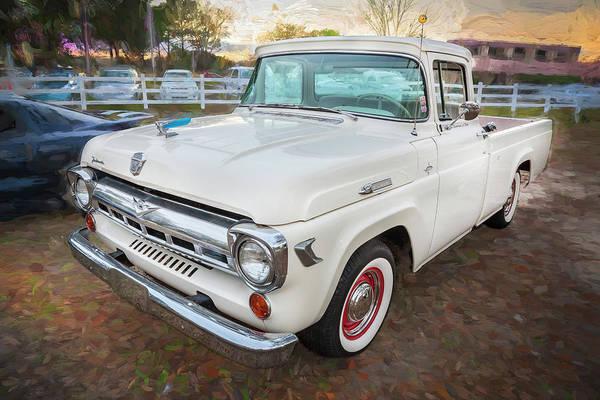 1957 Ford F100 Pickup Truck Art Print By Rich Franco
