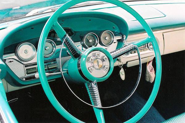 Edsel Art Print featuring the photograph 1958 Edsel Pacer Dash by Lauri Novak