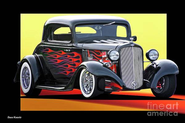 Hot Rod Key Words Art Print featuring the photograph 1933 Chevrolet Coupe by Dave Koontz