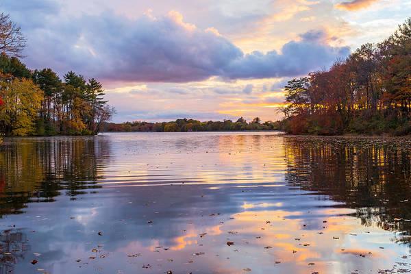 New England Art Print featuring the photograph Autumn Sunset by Bryan Bzdula