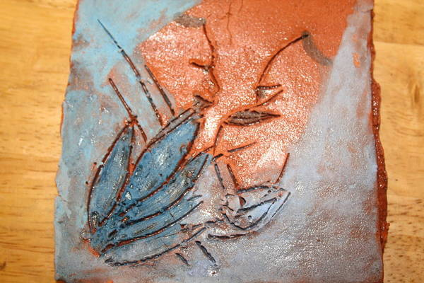 Jesus Art Print featuring the ceramic art Aweese - Tile by Gloria Ssali