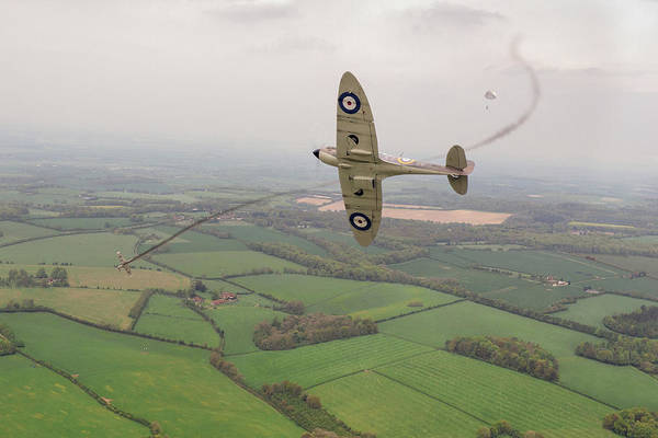 Spitfire Art Print featuring the photograph Battle Of Britain Spitfire by Gary Eason