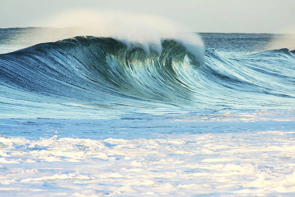 Active Art Print featuring the photograph Beautiful Wave Breaking by Vince Cavataio - Printscapes